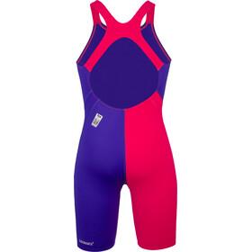speedo Fastskin Endurance+ Openback Kneeskin-puku Tytöt, purple/red